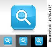 magnifying glass icon. blue...
