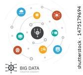 big data colored circle concept ...