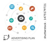 advertising plan colored circle ... | Shutterstock .eps vector #1475179721