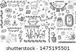scrap set elements. cozy hygge... | Shutterstock .eps vector #1475195501