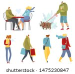 collection of strolling  and... | Shutterstock .eps vector #1475230847
