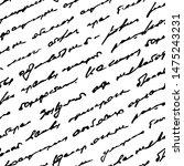 written handwriting. scribble... | Shutterstock .eps vector #1475243231