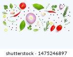 various fresh vegetables and... | Shutterstock . vector #1475246897