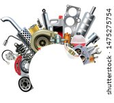 vector car spares frame concept ... | Shutterstock .eps vector #1475275754