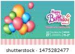 happy birthday vector design...   Shutterstock .eps vector #1475282477
