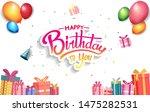 happy birthday vector design...   Shutterstock .eps vector #1475282531