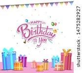 happy birthday vector design... | Shutterstock .eps vector #1475282927