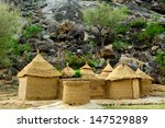 Small photo of Mud house in the Mandara Mountains region of Cameroon, West Africa. The Mandara Mountains are a volcanic range extending about 200km along the northern part of the Cameroon-Nigeria border.