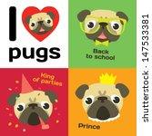I Love Pugs. Funny Pugs In...