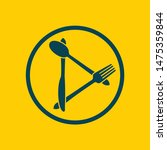 Food Icon With Cutlery Knife ...