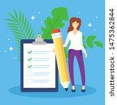 checklist or survey document... | Shutterstock .eps vector #1475362844