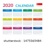 vector template of color 2020... | Shutterstock .eps vector #1475365484