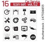 vector black car service icons... | Shutterstock .eps vector #147536855