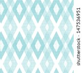 Stock vector pastel blue fabric ikat diamond seamless pattern background 147536951