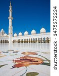 famous sheikh zayed mosque in... | Shutterstock . vector #1475372234