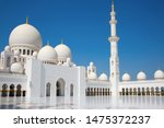 famous sheikh zayed mosque in... | Shutterstock . vector #1475372237