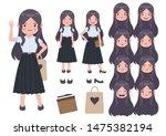 asian student in university... | Shutterstock .eps vector #1475382194