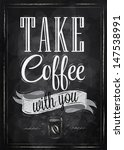 Poster Lettering Take Coffee...
