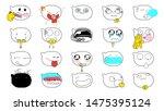 cartoon emoji face vector...
