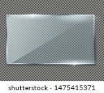 realistic transparent glass... | Shutterstock .eps vector #1475415371