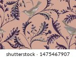 seamless pattern with birds and ... | Shutterstock . vector #1475467907