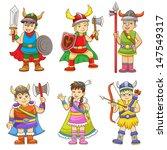 set of cartoon viking. eps10...   Shutterstock .eps vector #147549317