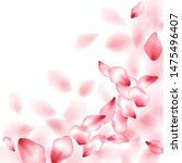 pink sakura flower flying... | Shutterstock .eps vector #1475496407