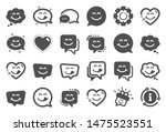 yummy smile icons. emoticon... | Shutterstock .eps vector #1475523551