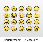 funny smiley faces with... | Shutterstock .eps vector #147553124