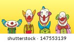 four happy clowns of different... | Shutterstock .eps vector #147553139