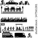 urban city life metropolitan | Shutterstock .eps vector #147561281
