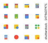 16 flat calculator icons pack...