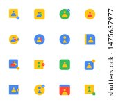 16 flat icons pack in...