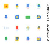 16 flat voice recorder icons...