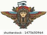 ancient egypt. golden pharaoh ... | Shutterstock .eps vector #1475650964