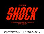 eclectric shock style font... | Shutterstock .eps vector #1475656517