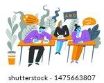 high school lesson  children in ...   Shutterstock .eps vector #1475663807