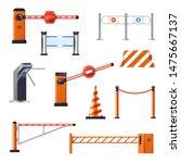 stop cranes and barriers ...   Shutterstock .eps vector #1475667137
