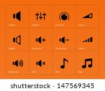 speaker icons on orange...