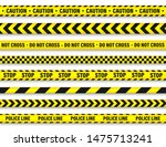 yellow and black barricade... | Shutterstock .eps vector #1475713241