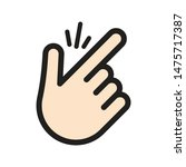 snapping finger icon vector... | Shutterstock .eps vector #1475717387