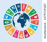sustainable development goals   ... | Shutterstock .eps vector #1475719187