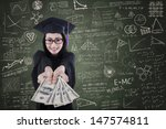 asian female graduate giving... | Shutterstock . vector #147574811
