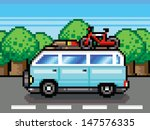 family road trip summer... | Shutterstock .eps vector #147576335