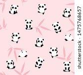 Cute Cartoon Panda Bear...