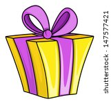 cartoon gift box   vector... | Shutterstock .eps vector #147577421