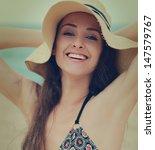 closeup portrait of smiling... | Shutterstock . vector #147579767