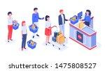 isometric supermarket purchases.... | Shutterstock .eps vector #1475808527