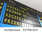 small railway station timetable ...   Shutterstock . vector #147581324