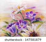 Wildflowers  Oil Painting On...